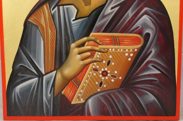 Apostle Luke Hand-Painted Icon from Hilandar Monastery Greece