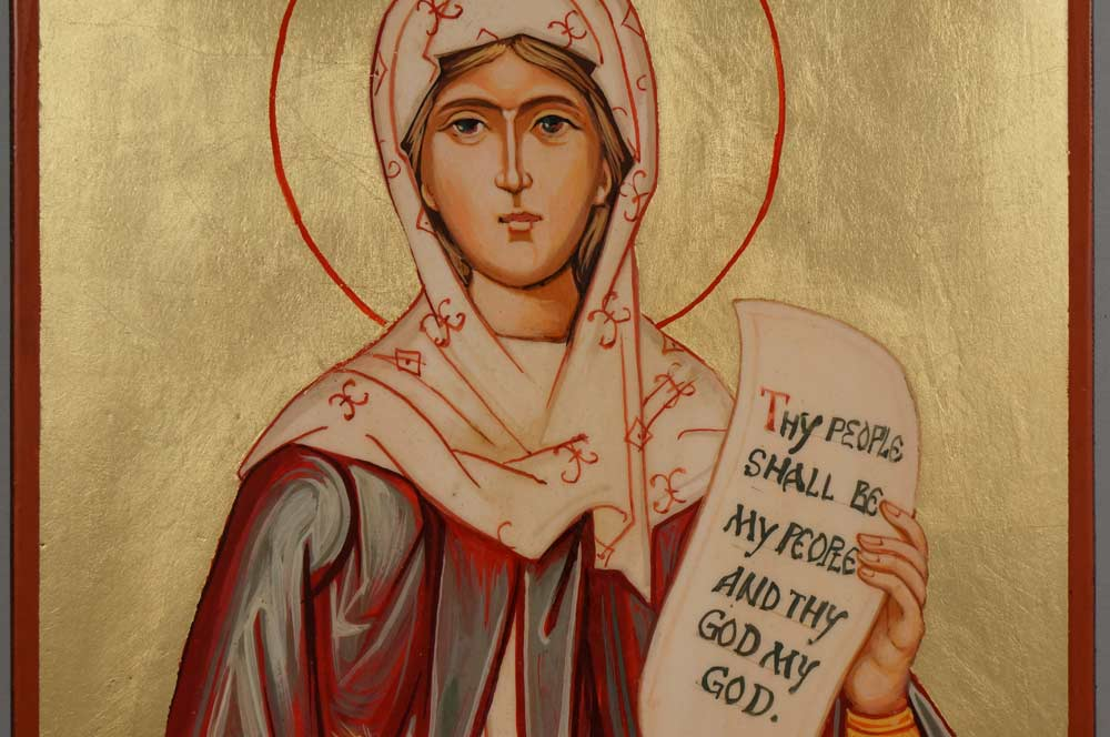 Holy Foremother Ruth Hand Painted Orthodox Icon