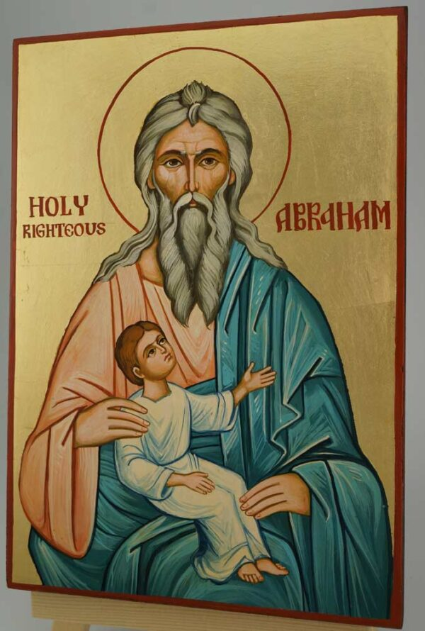 Holy Righteous Abraham Icon Hand Painted Byzantine Orthodox