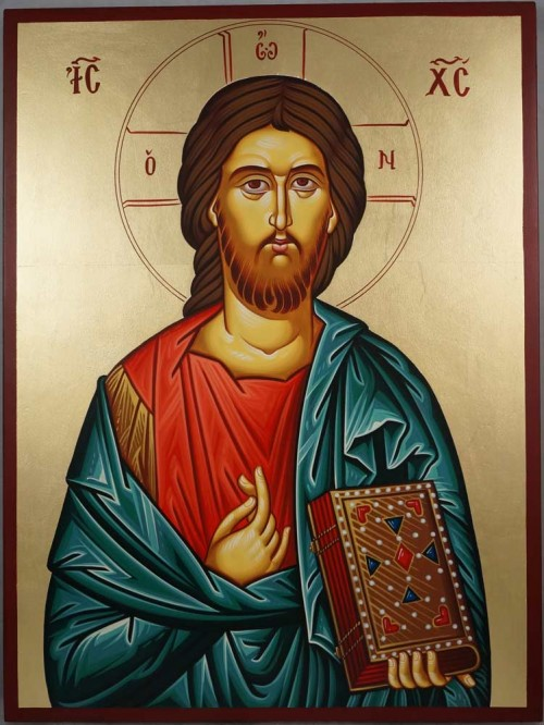 Hand-painted Orthodox icon of Christ the Merciful