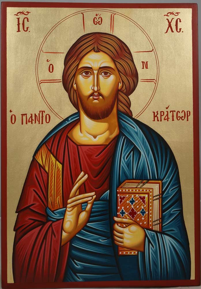 Hand Painted Greek Orthodox Icons For Sale