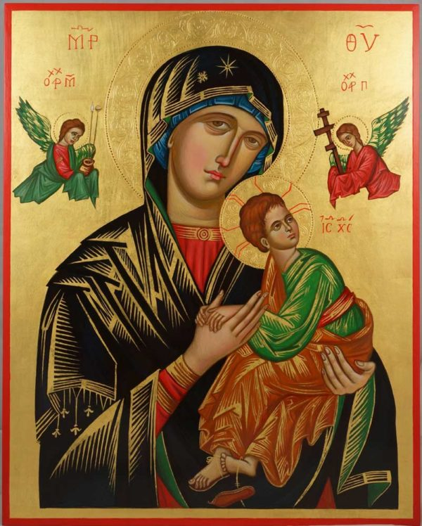 Our Lady of Perpetual Help Hand-Painted Orthodox Icon