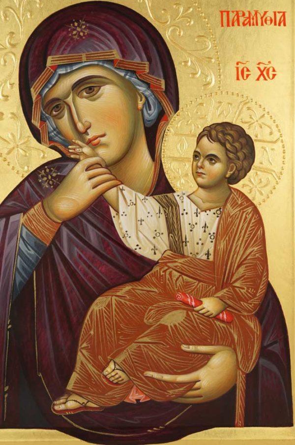 Panagia Paramythia Hand-Painted Greek Byzantine Icon