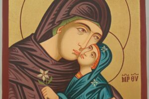 Saint Anna Anne Hand Painted Icon Byzantine Orthodox on Wood