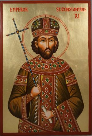 Emperor St Constantine XI Hand-Painted Orthodox Icon