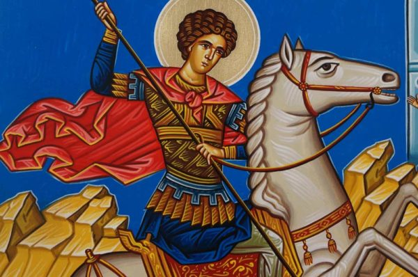 Saint George Hand-Painted Orthodox Icon