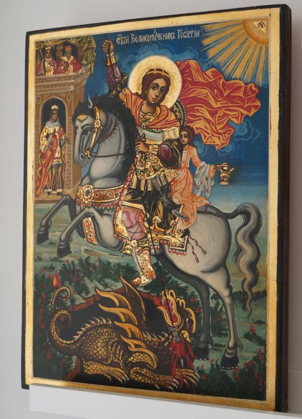 St. George the Trophy-Bearer Hand-Painted Byzantine Icon