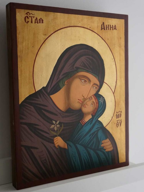 Saint Anna Hand-Painted Byzantine Orthodox Icon