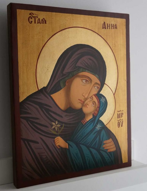 Saint St Anna Anne Mother of Mary Hand Painted Orthodox Icon