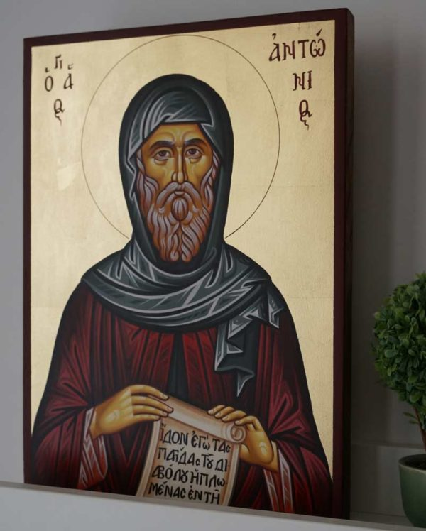 St Anthony of Egypt Hand-Painted Orthodox Icon