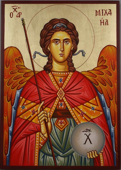 Saint St Archangel Michael Hand Painted Byzantine Icon