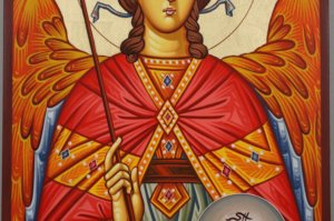 Saint St Archangel Michael Hand Painted Byzantine Icon
