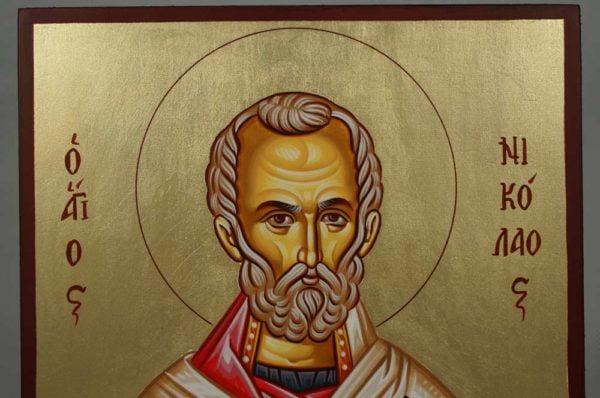 Saint Nicholas Hand-Painted Orthodox Icon
