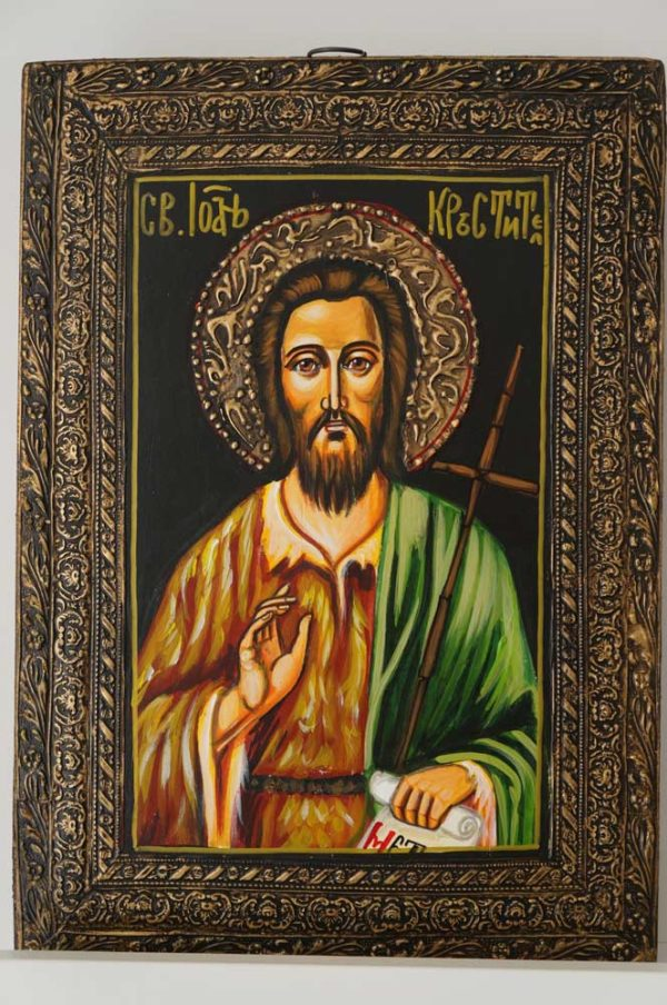 St John the Forerunner Hand-Painted Byzantine Icon