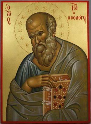 Apostle John the Theologian Hand-Painted Byzantine Icon