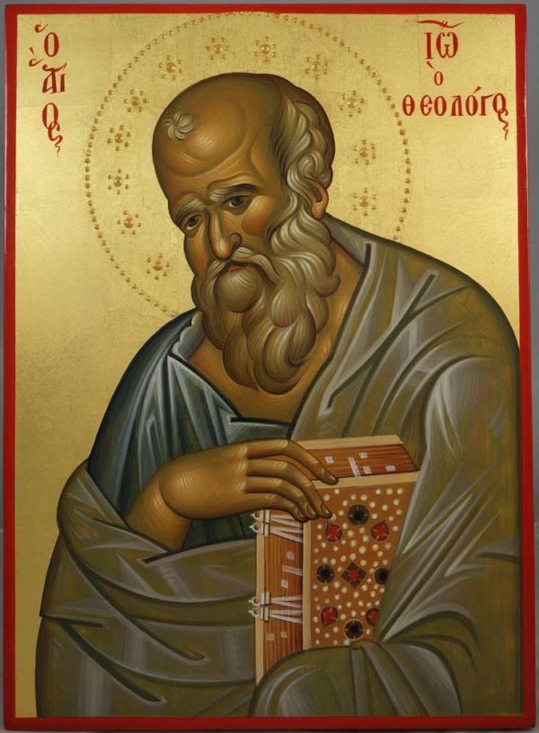 Apostle John the Theologian Hand-Painted Byzantine Icon