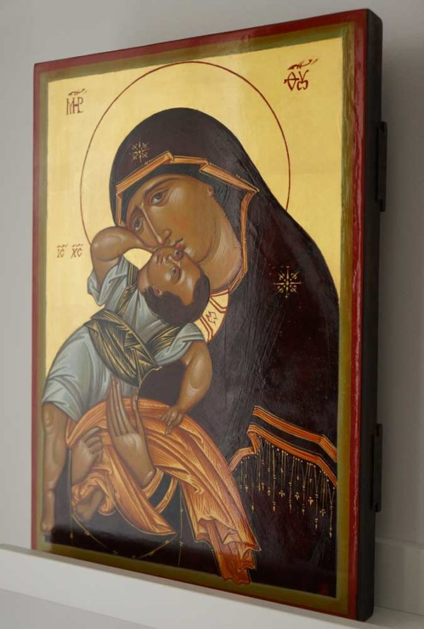The Virgin Pelagonitissa Hand-Painted Byzantine Icon
