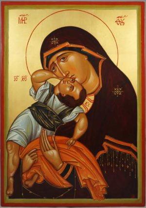 The Virgin Pelagonitissa Hand-Painted Byzantine Icon