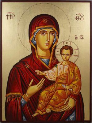 Virgin Mary Theotokos Portaitissa Hand-Painted Orthodox Icon
