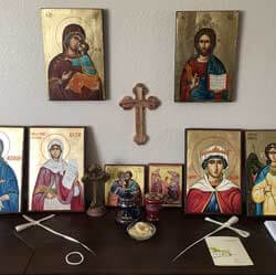 BlessedMart Customer Review Hand-Painted Icons