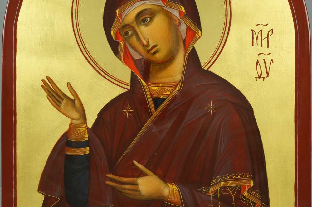 Theotokos Supplication Hand-Painted Byzantine Icon