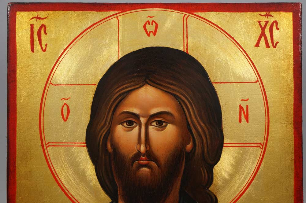 Christ Blessing (Vatopedi) Hand-Painted Byzantine Icon
