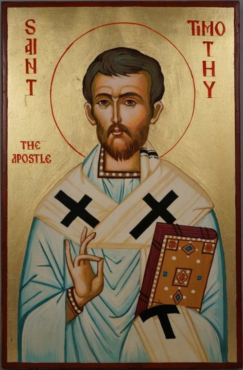 Hand-Painted Icon of St Timothy the Apostle