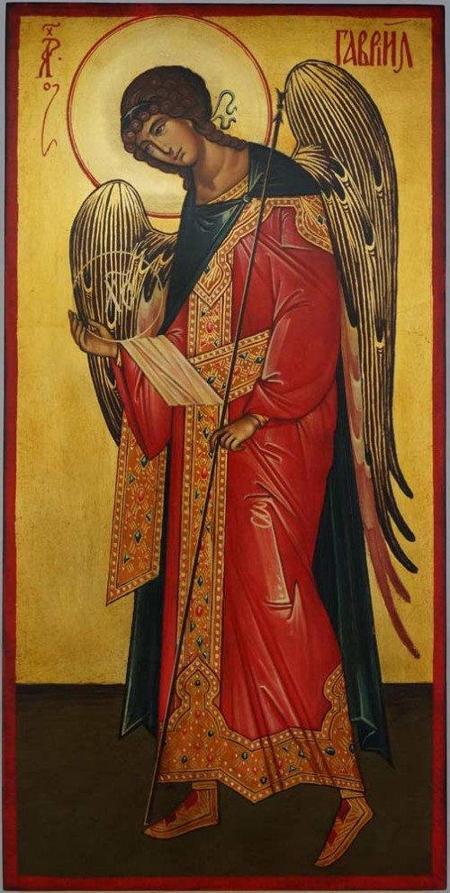 St Archangel Gabriel full body Hand Painted Orthodox Icon
