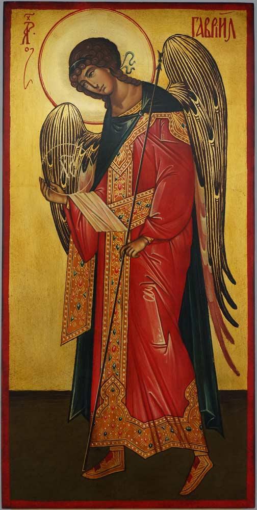 St Archangel Gabriel full body Hand Painted Orthodox Icon