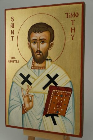 St Timothy the Apostle Icon Hand Painted Byzantine Orthodox