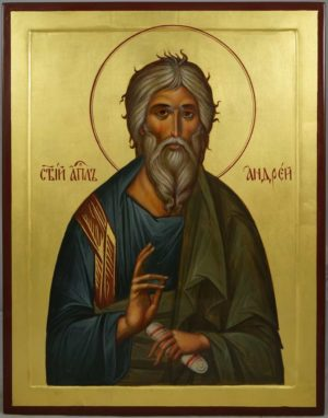 St Andrew the First-Called (raised border) Hand-Painted Byzantine Icon