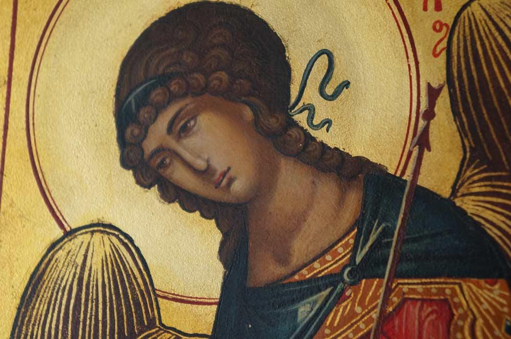 Gabriel the Archangel Hand-Painted Byzantine Icon