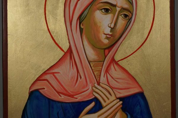St Hannah the Prophetess Hand-Painted Orthodox Icon