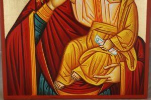 Theotokos Paramythia Hand-Painted Byzantine Icon