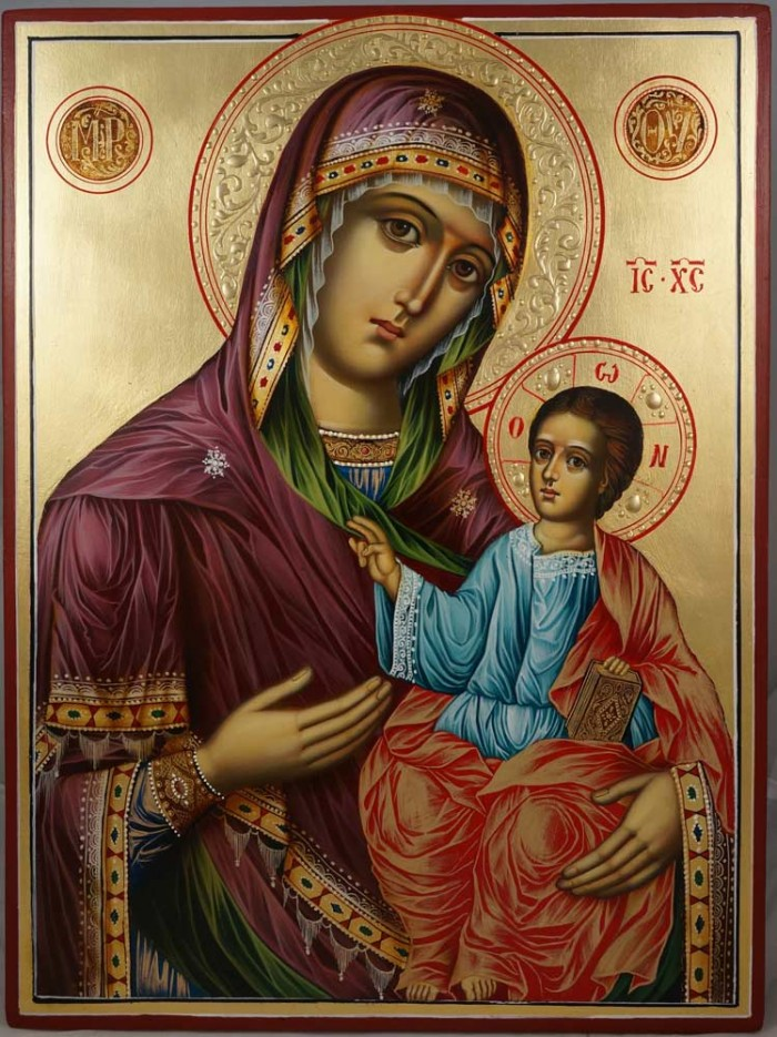 Virgin Mary the Guide Hand-Painted Orthodox Icon