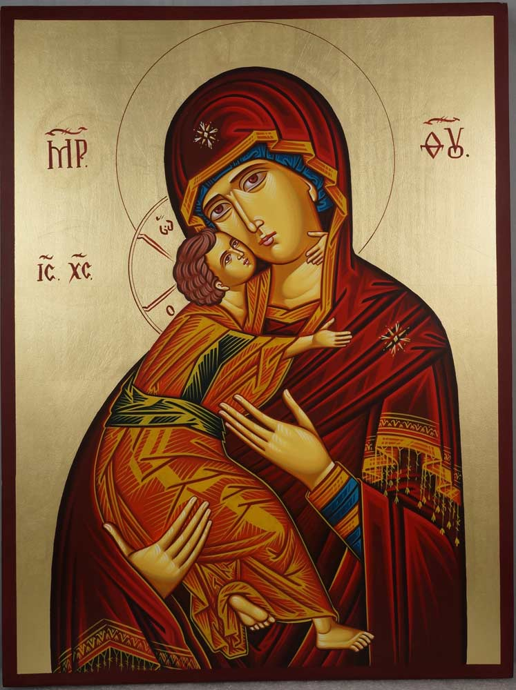 Vladimir Mother of God Large Hand-Painted Orthodox Icon