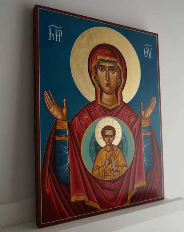 Our Lady of the Sign Hand-Painted Orthodox Icon