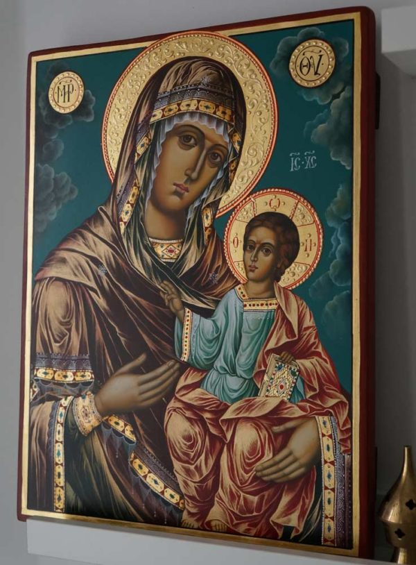 Hand-Painted Orthodox Icon of Virgin Mary the Guide