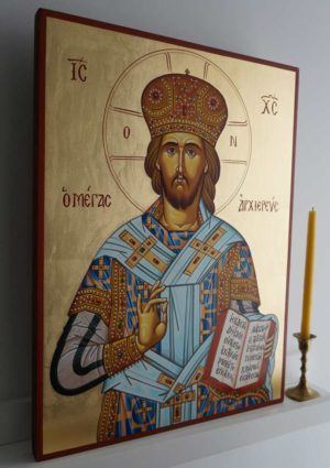 Christ the Great High Priest Hand-Painted Greek Orthodox Icon
