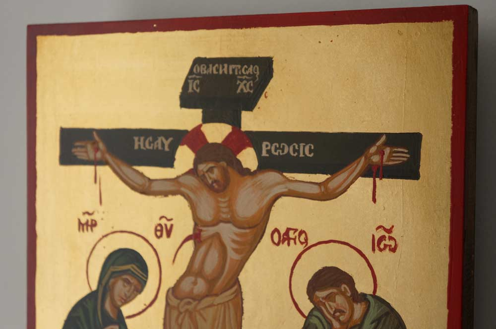 The Crucifixion of Christ Hand-Painted Orthodox Icon