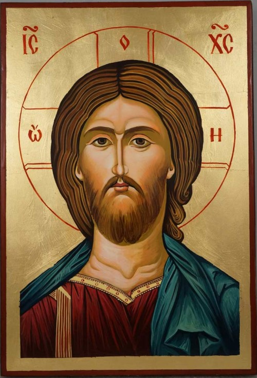 Hand-Painted Orthodox Icon of The Son of God Large