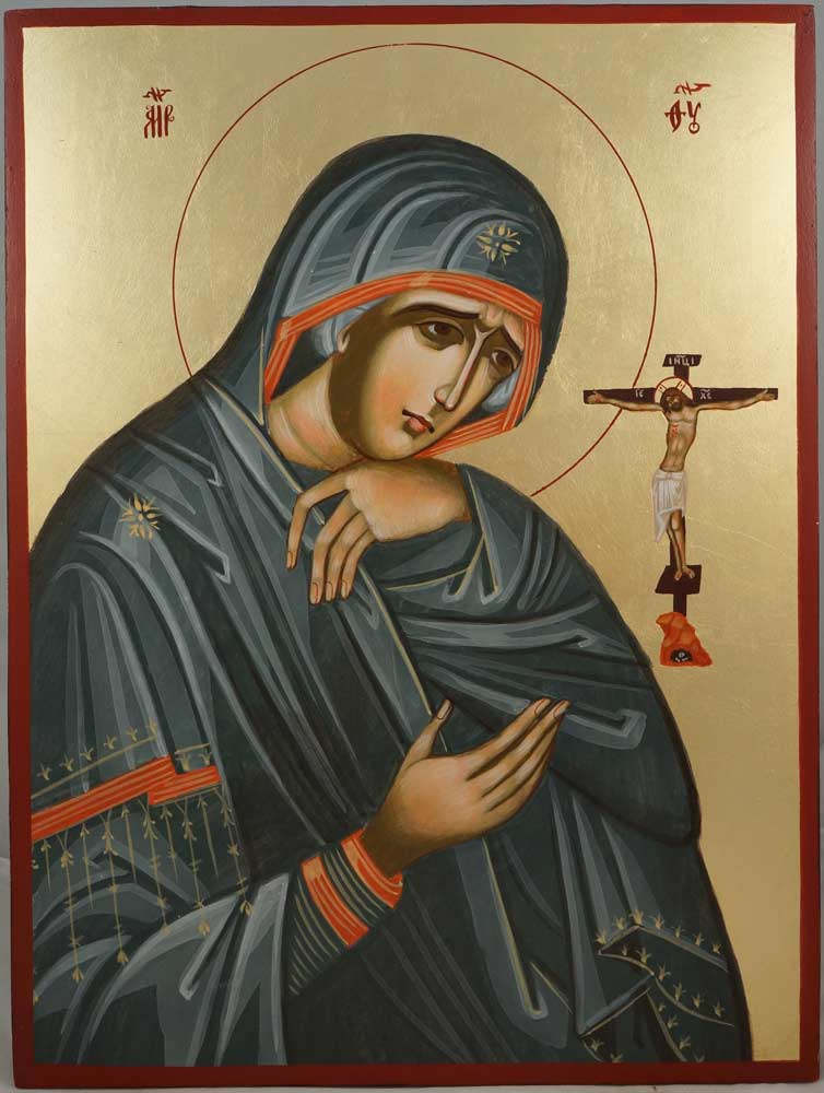 Mother of God of Akhtyr Hand-Painted Byzantine Icon