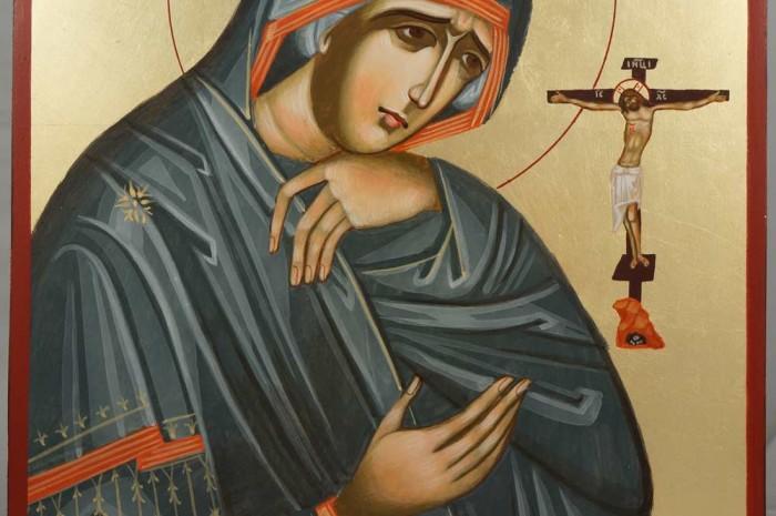 Theotokos Akhtyrskaya Hand-Painted Byzantine Icon