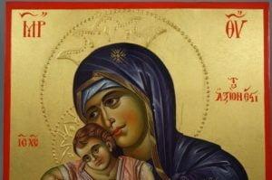 Panagia Axion Estin Hand-Painted Greek Orthodox Icon