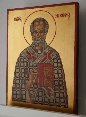 St Nicholas Hand-Painted Byzantine Icon