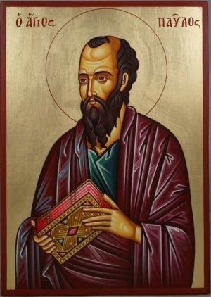 Saint Paul the Apostle Hand-Painted Orthodox Icon