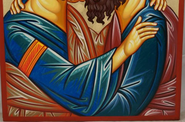 Apostles Peter and Paul Hand-Painted Greek Orthodox Icon
