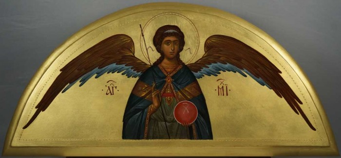 Archangel Michael Open Wings Arch Hand-Painted Byzantine Icon
