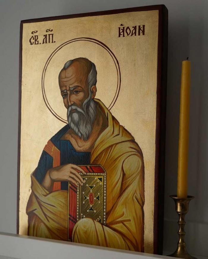 Saint John the Theologian Hand-Painted Byzantine Icon
