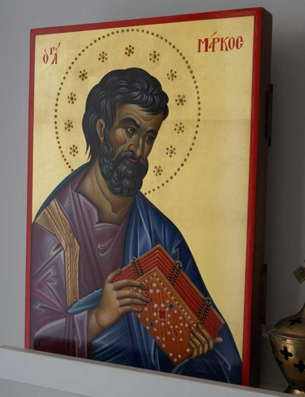 Mark the Apostle and Evangelist Hand-Painted Byzantine Icon